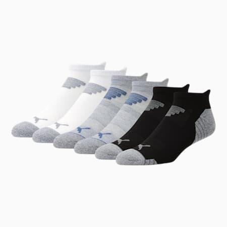 Calcetines cortos para hombre [paquete de 6], GRIS / AZUL, pequeño